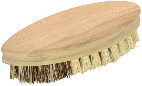 Fackelmann Reinigungsbürste, Scheuerbürste aus FSC-zertifizierter Buche, Gemüsebürste mit widerstandsfähigen Borsten (Maße: ca. 14 x 6 cm), Menge: 1 Stück