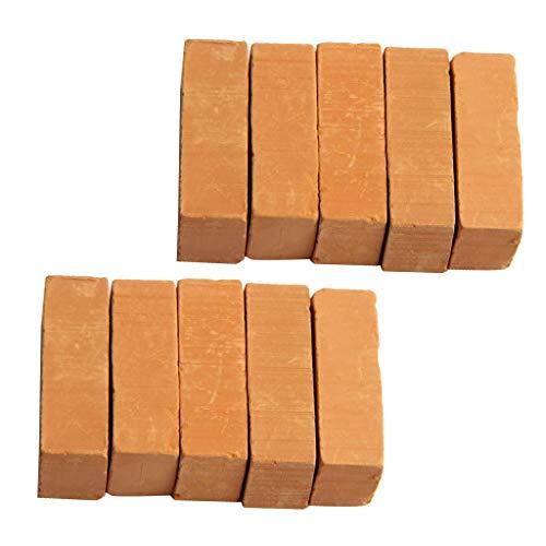 Sharplace 10er-Set Ziegelrot Backsteine Ziegelsteine für Modellbau Landschaftsbau
