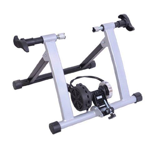 Homcom Rollen/Heim-trainer Fahrrad mit Magnetbremse, Silber, 5661-0061