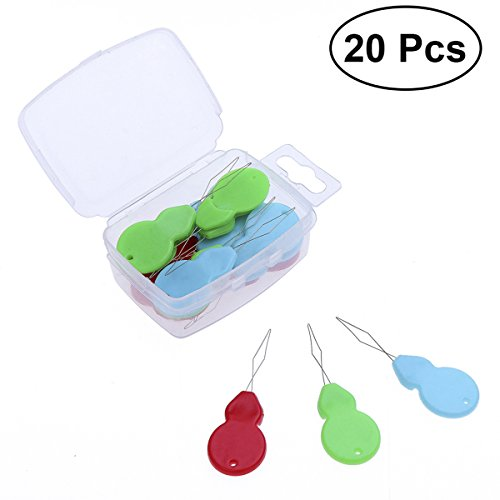 ROSENICE 20pcs Nadeleinfädler Nähnadeln Einfädler für Nadelöhr Hand Nähen Werkzeug