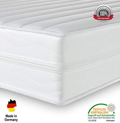 Träume-Nacht AquaFlex 16cm Wellness Kaltschaummatratze - 7-Zonen Matratze - Härtegrad H2 & H3 - ÖkoTex Rollmatratze (90 x 200 cm, H2 & H3)