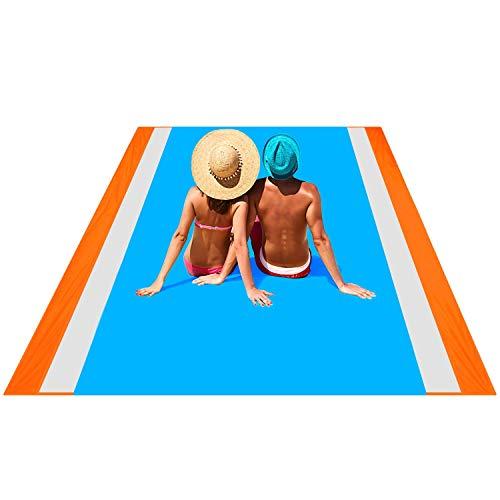 OUSPT Picknickdecke,Stranddecke Campingdecke Strandtuch 210 x 200 cm, Wasserfeste Picknickdecke Campingdecke Strandtuch,4 Befestigung Ecken, Ultraleicht Kompakt sandabweisend Wasserdicht
