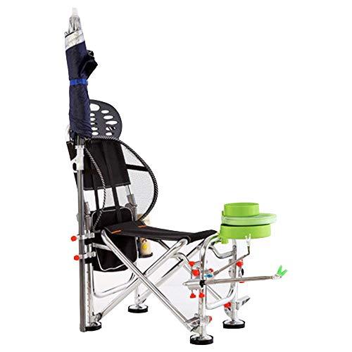 Axdwfd Liegestuhl Lounge Chair, Angeln Stuhl Outdoor Freizeit Luxus Starke Falten Camping Stuhl Schwere Hohe Zurück Direktor Getränkehalter 56 * 35 * 88 cm