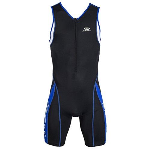 Aropec 104M Triathlon Einteiler Herren - Trisuit Men, Farbe:schwarz/blau;Größe:L