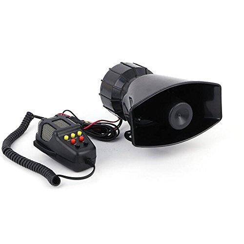 7 Ton Sound Hupen Signalhörner 125db Auto Sirene Fahrzeug Alarm Horn Mit Mikrofon PA 12V 100W Notfall Warntöne für Auto Motorrad