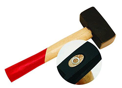 Fäustel 1000g Sicherheits-Handfäustel abgerundet 1000 g Kopfgewicht ca. 252 mm Länge Komforgriff Stahlguss Kopf