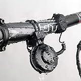 globalqi Elektrische Fahrradhupe Elektronische Fahrradklingel 100dB Wasserdicht 4 Klangmodi mit Akku, einfache Montage und Freigabe
