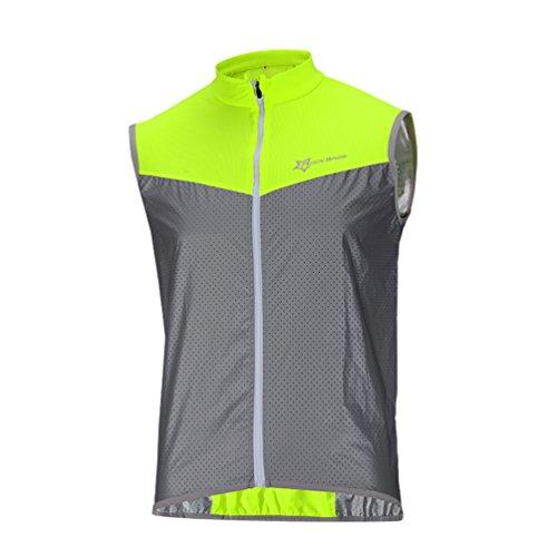 ROCKBROS Fahrrad Weste Reflektierende Windfest Atmungsaktiv Elemente Kurze Jersey für Sport Aktivitäten(Asia XL=Europa L)