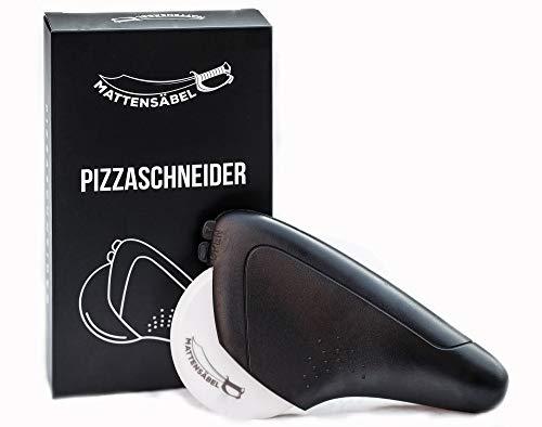 Mattensäbel - Pizzaroller mit einer harten Klinge aus Keramik -Scharfer Profi-Pizzaschneider für geringen Kraftaufwand - leicht zu reinigen - mit Klingenschutz