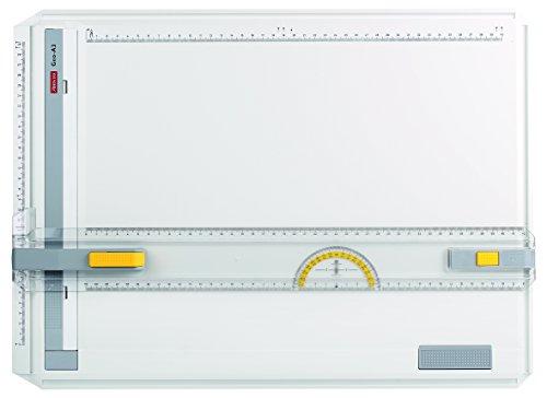 Aristo A3 Profi-Zeichenplatte AR7033 Geo-Board (Zeichenbrett aus schlagfestem Kunststoff, Made in Germany, inkl. Schnellzeichendreieck AR7090) weiß