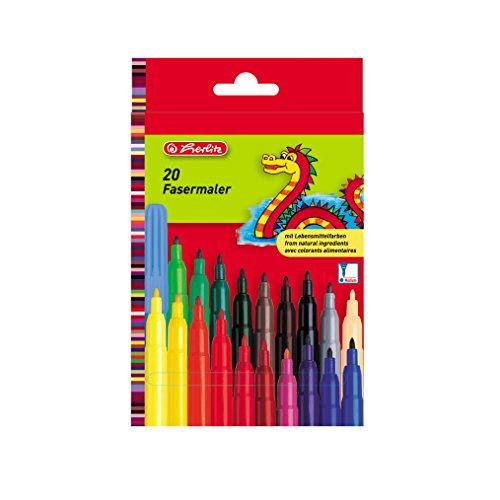 Herlitz 8649238.0 Fasermaler 20-er LB-Farben, medium