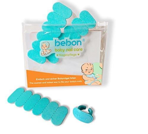 bebon - Nagelpflege für Babys I Praktisches Babypflege-Set für Neugeborene ab 0 Monate I Geschenkidee für werdende Mütter | 18 Einwegfeilen