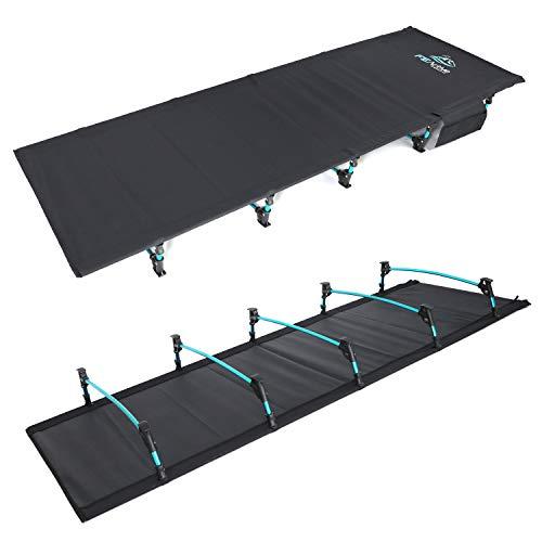 FE Active - Kompaktes klappbett aus vollaluminium, ultraleichtes, bequem zum schlafen, tragbares campingbett für Zelten, Camping, Wandern, Trekking, Rucksackreisen  In Kalifornien entworfen
