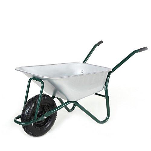 MAXCRAFT Schubkarre 200 kg 100 L Bauschubkarre Gartenschubkarre Transportkarre Schiebkarre mit Luftbereifung - Grün
