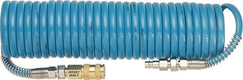 HAZET Spiralschlauch (Länge 7,62 m, Innendurchmesser 6,35 mm, Arbeitsdruck 10 bar, aus Polyurethan) 9040-7