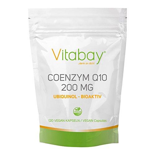 Coenzym Q10 Ubiquinol 200mg - 120 Vegane Kapseln - hochdosiert - Energie, Ausdauer, junge, gesunde Haut - Herz-Kreislaufsystem - Nerven - Immunsystem - Made in Germany