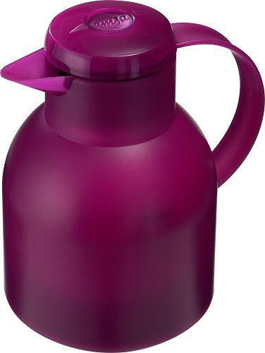 Emsa 507075 Isokanne 1 Liter, Quick Press Verschluss, 100% dicht, himbeer