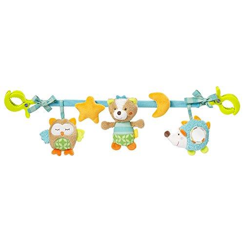 Fehn 071535 Kinderwagenkette Sleeping Forest / Mobile-Kette mit niedlichen Figuren zum Aufhängen an Kinderwagen, Babyschale oder Kinderbett / Für Babys und Kleinkinder ab 0+ Monaten, Länge: 45cm