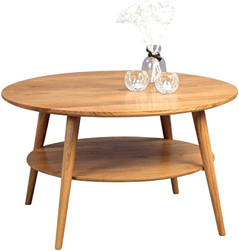 HomeTrends4You 247222 Couchtisch , Holz, wildeiche massiv geölt, 80 x 80 x 45 cm