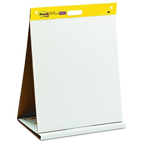 Post-it 'Super Sticky Meeting Chart' Mobiles Tisch Flipchart mit integriertem Aufsteller - zusammenklappbar / 1x Flipchartblock weiß in 50,8 x 58,4 cm à 20 Blatt