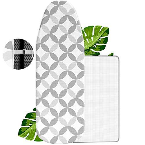 VINEL [NEU Bügelbrett-Bezug - Das Bügel Wunder Nr.1 - Innovativer Bügeltisch-Bezug mit Slim-Fit Funktion 120x40 - Perfekt für Ihr Dampfbügeleisen