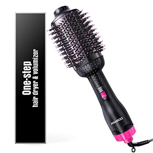MIABOO One-Step Haartrockner, 3-in-1-Salon Heißluftpaddel Styler Negativ Ionenglätter & Lockige Bürste für alle Haartypen mit Anti-Verbrühungsfunktion