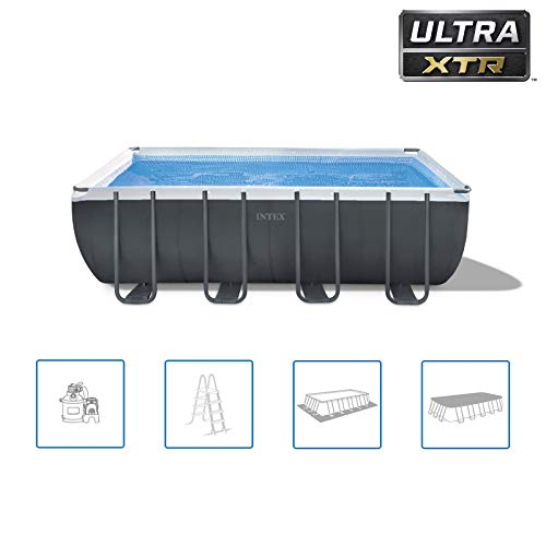 Intex Schwimmbadrahmen-Set Ultra Quadra, 549 x 274 x 132 cm, XTR 26356