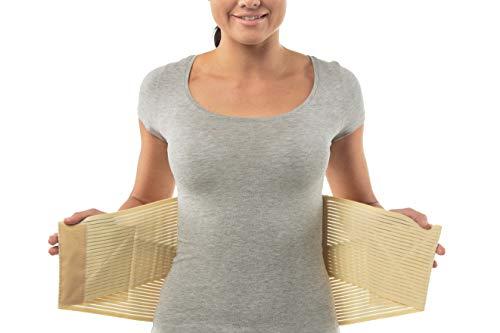 Medizinische Qualitäts-Rückenbandage - Orthopädischer Rückenstützgürtel mit Stützfunktion - Perfekter Sitz, Doppelverschluss Rückenstütze zur Schmerzlinderung - Größe 3: 89-99 CM; 35.04-38.98'