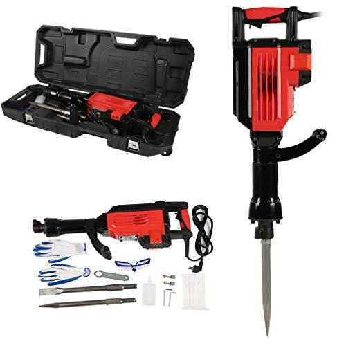 Scheppach Abbruchhammer/Meißelhammer 110A 2000W 70J 4000 U/min | + Spitzmeißel, Flachmeißel, Metallkoffer/D-Handgriff/Kompakt/Vibrationsarm