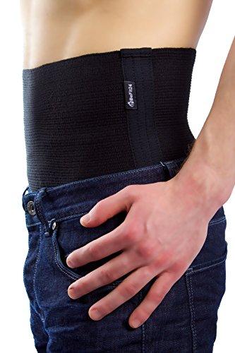 BeFit24 Elastischer Premium- Nierenwärmer für Damen und Herren – schützt die Muskulatur des unteren Rückenbereichs vor Verletzungen – Perfekter Rückenwärmer für Training, Fitness, Skifahren – Nierengurt - Back Support Belt - [ Size 5 ]