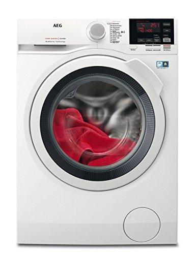 AEG L7WB64474 Waschtrockner Frontlader / Waschmaschine (7 kg) mit Trockner (4 kg) / sparsamer Waschautomat und Wäschetrockner mit Material- und Mengenautomatik / Energieklasse A (938,0 kWh/Jahr) / weiß