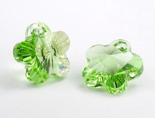 Anhänger von Swarovski Elements  Blume 12.0mm (Peridot), 12 Stück