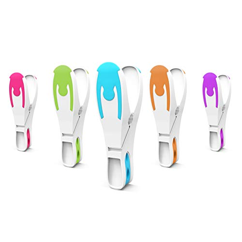 Vilenia Home Wäscheklammern 50er Set - Kompaktes und Hochwertiges Design mit fünf Bunten Farben - Geeignet für Wäscheständer Wäscheleine und Wäschekorb - Softgrips für leichteren Aufdruck