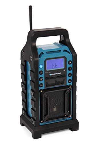 BLAUPUNKT BSR 10 Baustellen Radio mit PLL-UKW, Bluetooth, USB, SD, AUX-IN, Robustes Gehäuse, Akkubetrieben blau