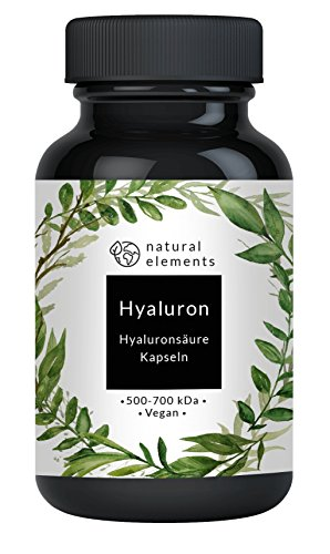 Hyaluronsäure Kapseln - Einführungspreis - Hochdosiert mit 300 mg pro Kapsel - Optimale Molekülgröße von 500-700 kDa - 90 vegane Kapseln - Ohne unerwünschte Zusatzstoffe - Hergestellt in Deutschland