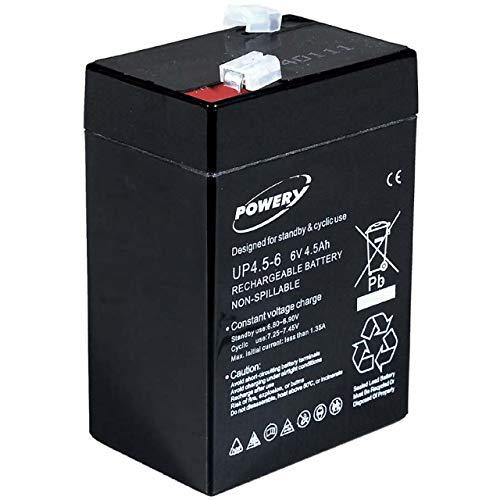 akku-net Blei-Gel Akku 6V 4,5Ah, 6V, Lead-Acid