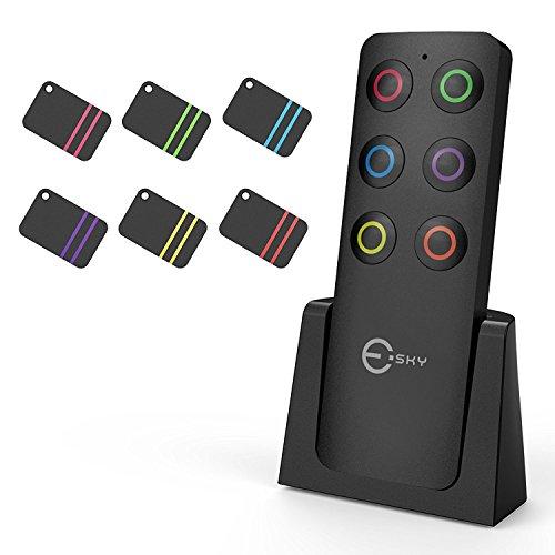 Schlüsselfinder, Esky Wireless Schlüssel Finder mit 6 Empfängern RF Item Locator, Item Tracker Support Fernbedienung, Haustier Tracker, Wallet Tracker, gute Idee für Ihre verlorenen Gegenstände