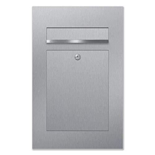 Briefkasten Edelstahl Unterputz B2, moderner Premium Design Unterputzbriefkasten