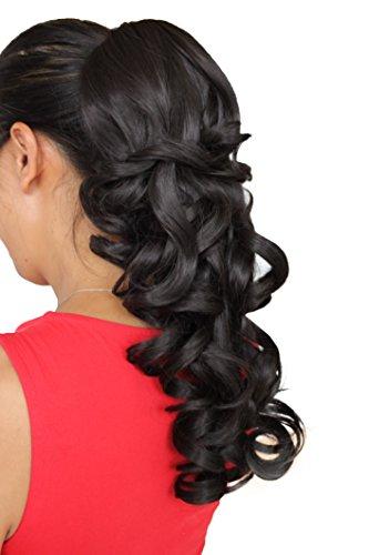 PRETTYSHOP Haarteil Hair Piece Zopf Pferdeschwanz Voluminös ca.50cm Hitzebeständig div. Farben H202