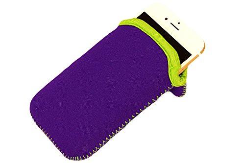 Neopren Sleeve für iPhone 6 und iPhone 7 in Lila, bzw. für alle größeren Smartphones als Danke Geschenk
