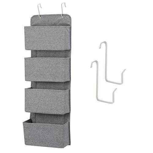MaidMAX Hängeaufbewahrung mit 4 Taschen - Kinderzimmer Aufbewahrung für Stofftiere, Windeln und Handtücher - Taschengarderobe zum Hängen