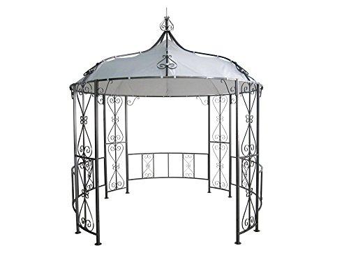 DEGAMO Luxus Pavillon 300cm rund, Stahlgestell + Dach wasserdicht weiss