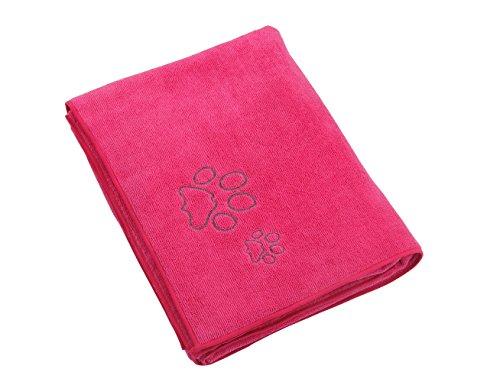Winthome Microfiber Handtücher - Praktische, bunte Handtücher zum Trocknen Haustiere nach dem Baden 77x127cm. (pink)