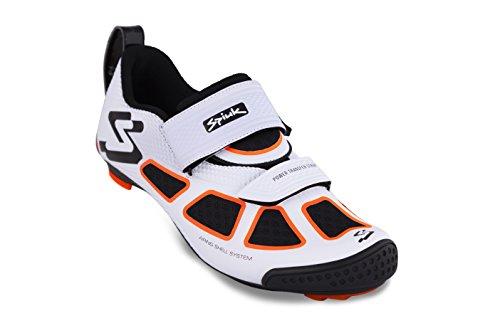 Spiuk Trivium Triathlon Schuh, Unisex Erwachsene, Weiß/Orange/Schwarz, 47