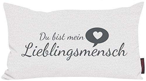 Magma Heimtex Kissen Lieblingsmensch 30x50cm Made in Germany