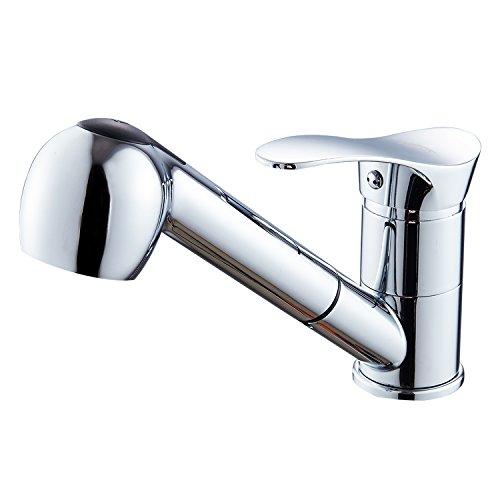 SOQO Küchenarmatur mit ausziehbarem brause Wasserhahn Waschtischarmatur Wasserhahn Spültisch Armatur Küche Armatur EU Standard 5 Jahren Garantie