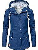 Ragwear Damen Übergangs-Jacke Outdoorjacke Regenmantel YM-Marge Petrol019 Gr. L