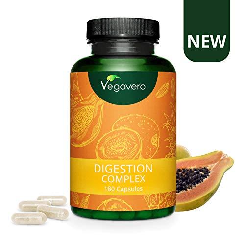Neu: VEGAVERO Papain Komplex | 100% PFLANZLICH | 3 Verdauungs- Enzyme | Papain, Bromelain & Actinidin | 180 Kapseln | Verbesserter Papaya-Ananas-Enzymkomplex | Ohne Zusatzstoffe | Vegan