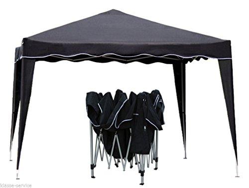 Kronenburg Falt Pavillon Dachmaß 3 x 3 m Gartenzelt Partyzelt in schwarz