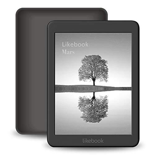 Likebook Mars E-Reader, 7,8'-Touchscreen, 300PPI, 8-Core-Prozessor, Integriertes Einstellbares Warm- / Kaltlicht, Integriertes Audible, Android 6.0, Google Play Store 16 GB